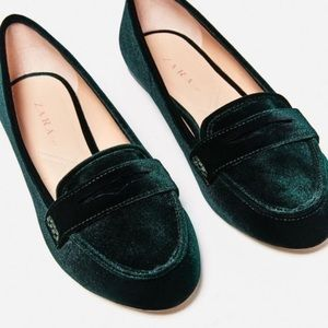 Zara Velvet Loafers